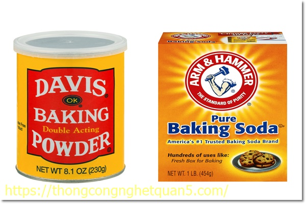 Baking soda và Baking powder